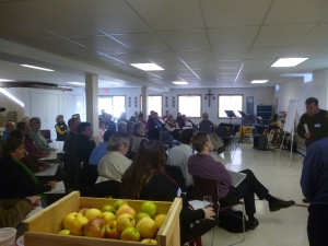 """St. Patrick's, Brewer, welcomed people from more than 20 faith communities and civic organizations to learn how to identify and combat community problems 'upstream."""" Photo courtesy of Food AND Medicine/Faith Linking In Action"""