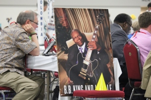 The Diocese of West Tennessee's deputation sat directly across from the media box. They designated the late B.B. King and his guitar Lucille, their honorary 9th deputy. Pretty much love that.
