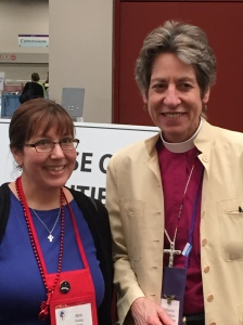 On the last day Nina Pooley grabbed a photo op with the Presiding Bishop Katharine Jefferts Schori.