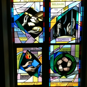 Jubilee window at St. Mark's Episcopal Church, Lewistown, Pennsylvania